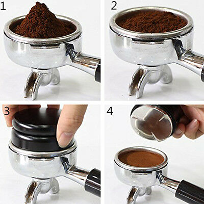 Stainless Steel Coffee Tamper Machine Espresso Coffee Bean Press Clover Base