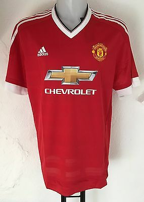 Manchester United 2015/16 S/s Adizero Home Shirt By Adidas Size Adults Xxl New