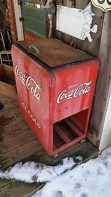 coca cola cooler Coke ice chest LOCAL PICK UP ONLY