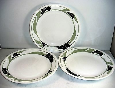 Corning Corelle Black Orchid Bread & Butter Salad Plates Set Of 3
