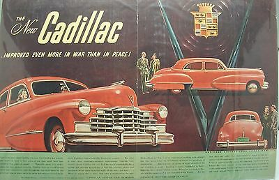 "Cadillac Lot 04 Of 5 Automobile Magazine Ads / 1940's/60's / Size: 14"" X 20"""