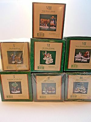 POCKET DRAGONS 12 DAYS OF CHRISTMAS, 7 BOXES 1,2,3,5,6,7, & 8 ALL NEW c