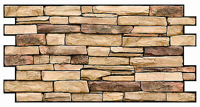 PVC Plastic Wall Panels 3D Decorative Tiles Cladding - NATURAL STONE SLATE