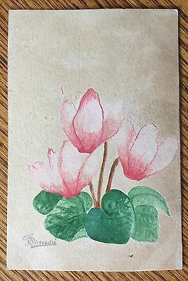 Antique Post Card - Hand Painted, Possibly Water Colors And Signed By ? Unique