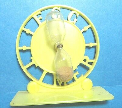 Vintage Yellow Plastic Sand Egg Timer  Free Shipping