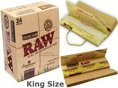 15 10 8 5 3 RAW Organic Hemp Connoisseur Slim King Size Rolling Papers with Tips