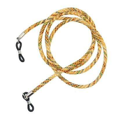 Yellow PU Leather Rope Sports Neck Cord Eye Glasses Strap String Lanyard