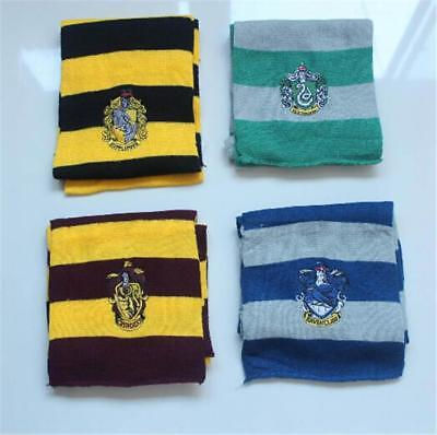 Harry Potter style mens boys house scarf Hogwarts party accessory with emblem
