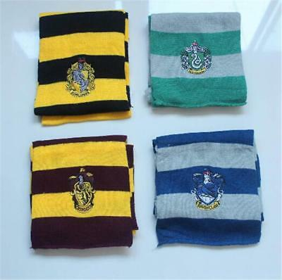 Harry Potter style mens boys house scarf fancy dress party accessory with emblem