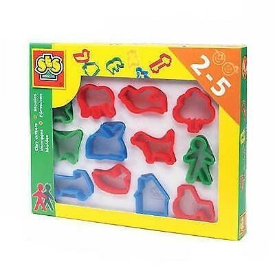 Cookie Cutters Plastic 12 Pieces