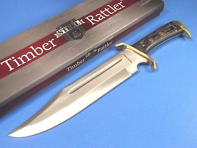"TIMBER RATTLER TR65 Western Outlaw Bowie full tang knife 16 1/2"" overall NEW!"