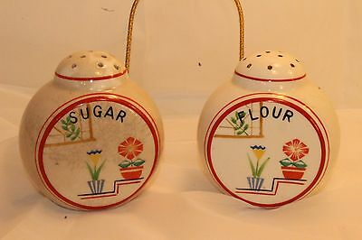 Flower Pot Tulip Colorful Large Range Made in Japan Sugar + Flour Shakers Vinage