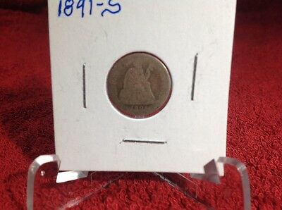 1891-S Liberty Seated Dime - Almost Good - Variety Iv Resumed