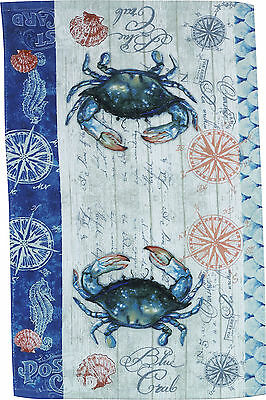 Kay Dee Designs Blue Crab Terry Towel One Size