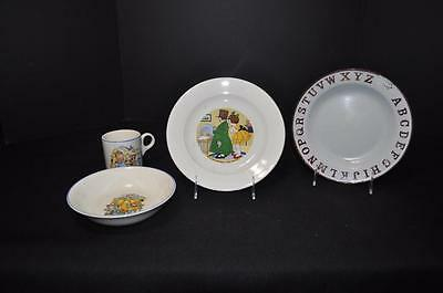 Children's Cereal Set and 2 Plates