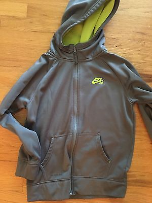 Nike Youth Large Hoodie Jacket Boy Gray