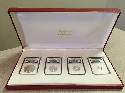 The Binion Collection Uncirculated Type Set NGC 4 Piece #1757 of 2500