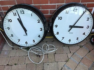 Large Vintage Double Sided Gents of Leicester Factory Railway Clock
