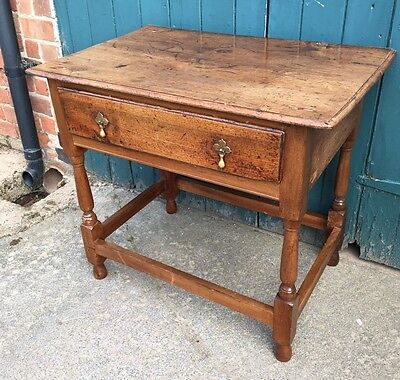 Antique Georgian Walnut Hall Table ~ Side Table ~ Occasional Table