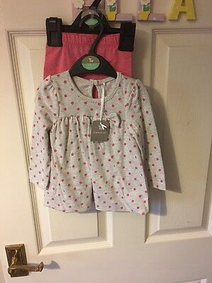 Bnwt Baby Girls Pretty Outfit Leggings & Top From Tu 3-6m New