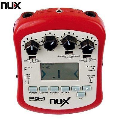 NUX PG - 1 PORTABLE GUITAR EFFECTS PROCESSOR Free Shipping UK