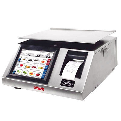 New Touch Screen Wireless Programable 40 Lbs Digital Deli Scale  With Printer,