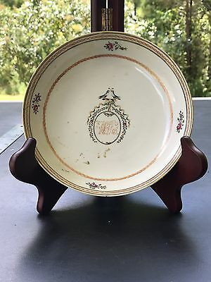 Antique Chinese Export Porcelain Painted Plate