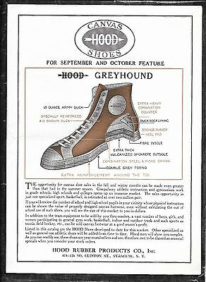 1924 Hood Canvas Shoes Sneakers 4 Page Catalog