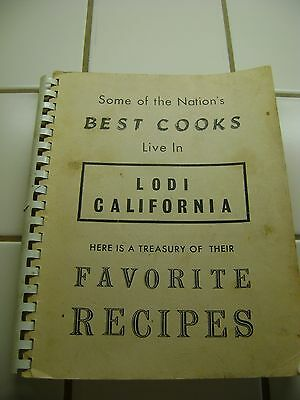 Some of the Nation's Best Cooks (Cookbook) Live In Lodi California (1972)