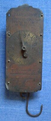 Antique Chatillon's Brass Improved Circular Spring Balance Scale 30 lb