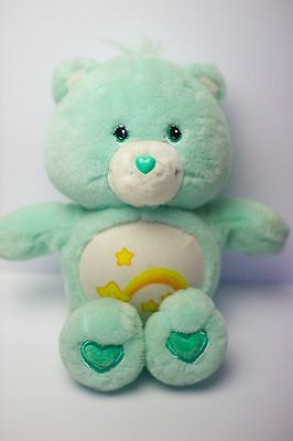 "Care Bear Wish Bear 15"" Plush toy *Tested and talks*"