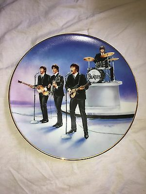 """Limited Ed. The Beatles """"Live In Concert"""" Collectible Delphi Plate - Pristine!"""