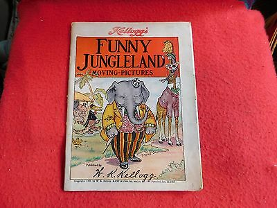 Antique 1909 Kellogg's Cereal Advertising FUNNY JUNGLELAND MOVING-PICTURES BOOK