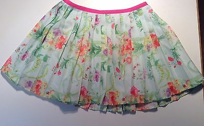 Ted Baker Sz.4 Floral Pleated Chiffon Skirt