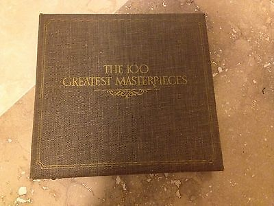 100 Greatest MasterPieces Set (214 Oz. sterling) Proof Sterling Silver Coin Set