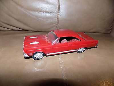 Vintage 1966 Red Ford Fairlane 1:25 Scale Model Dealer Promo Car