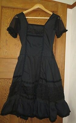 Lolita Rose EGL black gothic dress - 'one size' 8 10 12