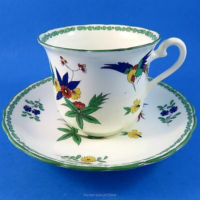 Handpainted Birds & Florals Tuscan Tea Cup and Saucer Set