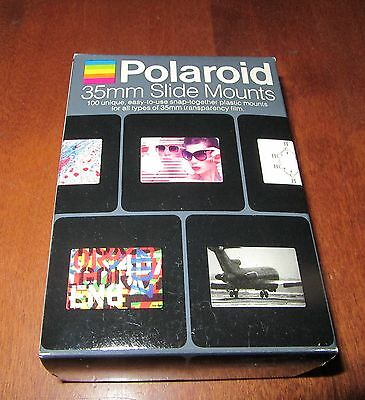 Polaroid 35mm Slide Mounts - Set of 100 Unique Easy-to-Use - New Sealed in Box