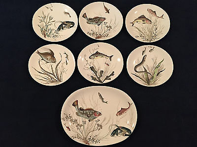 Johnson Bros of England Fish Series Complete + Platter