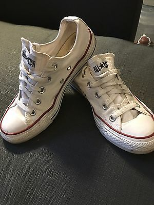 Converse All Star Men's Size 4 Women's Size 6 White Athletic Sneakers