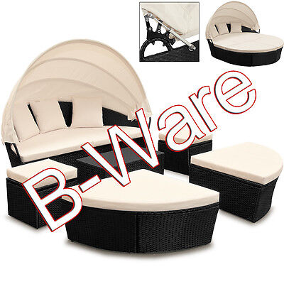 b ware sonneninsel poly rattan lounge gartenm bel sitzgruppe gartenliege 226cm eur 246 00. Black Bedroom Furniture Sets. Home Design Ideas