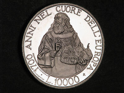 SAN MARINO 2000 10000 Lire 17th Centennial of Republic Silver Proof