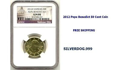 2012R Vatican City Pope Benedict 50 Cent Coin NGC GEM BU *Free Shipping