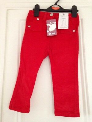 Tu Red Sparkly Trousers Age 12-18m