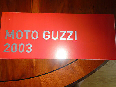 Moto Guzzi range brochure dated 2003 English text