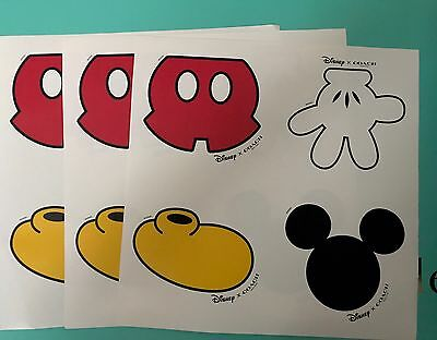 Set of 3 Coach Large Mickey Mouse Stickers NEW