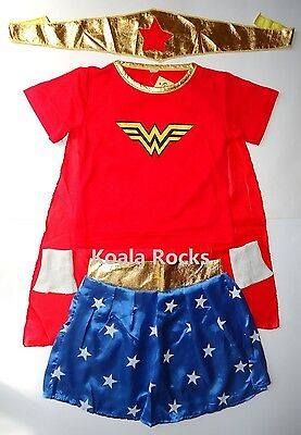 NEW Wonder Girl / Woman Costume Dress up Cosplay - 3-12yrs