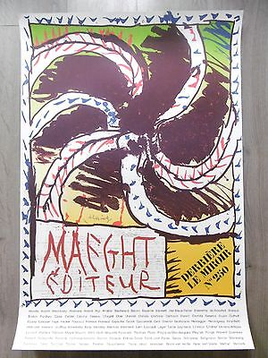 ALECHINSKY Pierre Affiche originale litho 82 Maeght Bruxelles COBRA Belgique