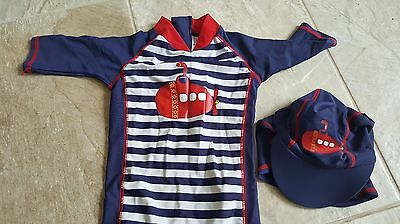 Boys sun suit with hat 9-12 months